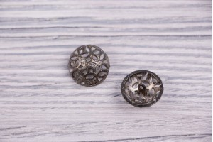 Пуговица Италия (на ножке, винтаж, никель, 1.8 см)