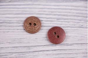 Пуговица Италия (винтаж, бордово-золотой, никель, 1.7см)