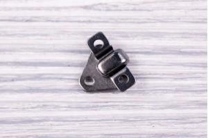 Крючок декоративный Италия (металл, темный никель, 1.2см х 1.4см)