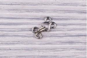 Крючок потайной Италия (металл, никель, 1.5см х 0.7см)