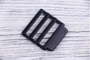 Регулятор длины металлический литой (матовый, черный)