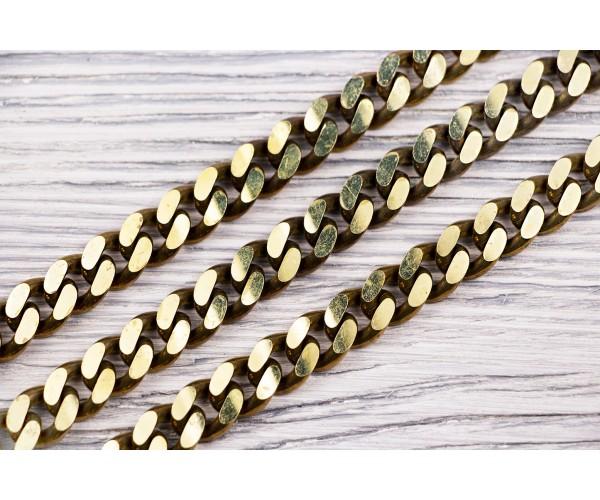 Цепь металлическая 12 мм (отполированный, золото)