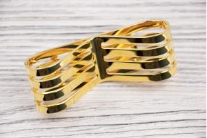 Бант для ремня и сумки (отполированный, металл, золото)