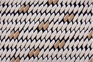 Ткань штапель Италия (вискоза 90%, коттон 10%, разноцветный, кирпичи, шир. 1,40 м)