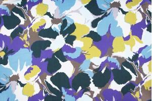 Ткань штапель Италия (вискоза 100%, разноцветный, цветы, шир. 1,40 м)
