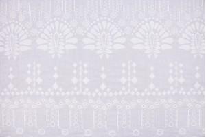 Ткань батист Италия (коттон 100%, молочный, вышивка, шир. 1,50 м)
