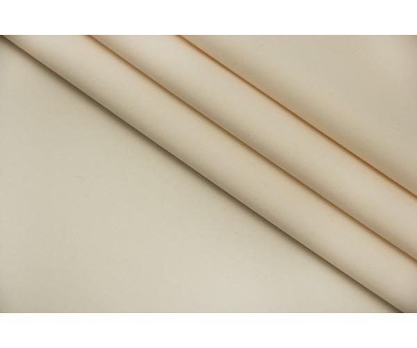Ткань трикотаж-бифлекс Италия (полиэстер 100%, молочно-бежевый, ширина 1,35 м)