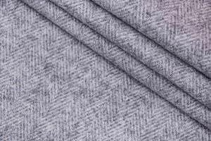 Ткань твид Италия (шерсть меринос 100%, светло-серый, шир. 1,60 м)