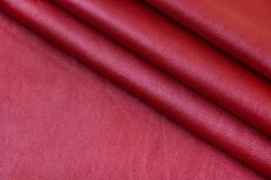 Кожа овчина (красно-малиновый, фактура, мягкий)