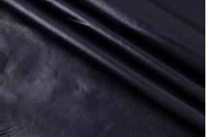 Кожа одежная овчина (черный, гладкая, глянец, 3-й сорт)