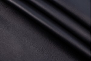 Кожа одежная овчина Италия (черный, даблфейс, гладкая, матовая)