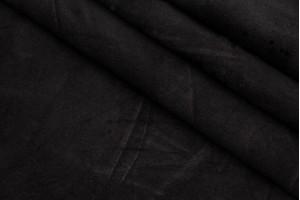 Кожа одежная теленок (черный, матовый, спилок)