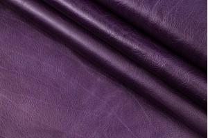 Кожа теленок Италия (фиолетовый, фактура, мягкая)