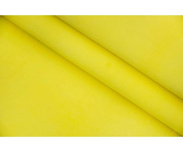 Кожа козлик (лимонно-желтый, велюр)