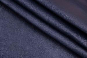 Кожа одежная козлик Италия (синий, мягкий, фактура)