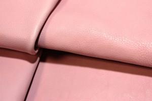 Кожа галантерейная КРС Италия (розовая пудра, гладкий)