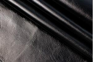 Кожа одежная поросенок Италия (черный, лак)