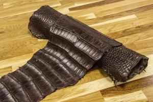 Кожа крокодила Италия (коричневый)