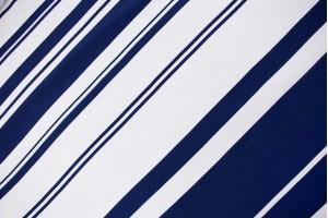 Ткань штапель Италия (вискоза 100%, бело-синий, полоски, шир. 1,40 м)