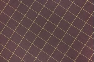 Ткань лен Италия (лен 100%, коричневый, клетка, шир. 1,50м)