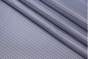 Ткань подкладочная Италия (полиэстер 100%, серый, клетка, шир. 1,40 м)