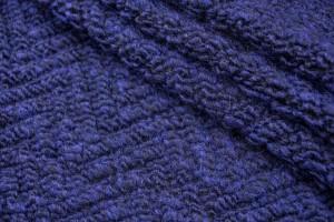 Ткань букле Италия (шерсть 100%, темно-синяя, шир. 1,60м)