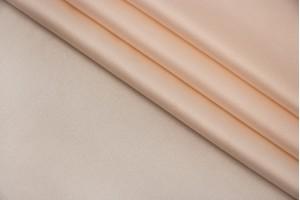 Ткань атласный шелк Италия (шелк 90%, эластан 10%, бледно-персиковый, шир. 1,35 м)