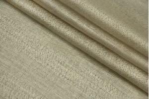 Ткань трикотаж Италия (полиэстер 100%, песочный, ажурные полоски, ширина 1,35 м)