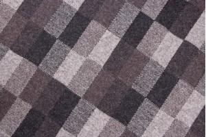 Ткань трикотаж (шерсть 100%, коричнево-серый, клетка, шир. 1,30 м)