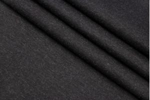 Ткань трикотаж джерси Италия (вискоза 100%, черный, шир. 1,40 м)
