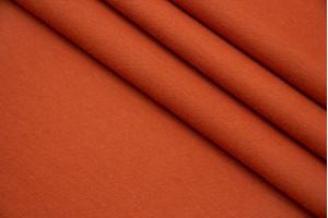 Ткань трикотаж джерси Италия (вискоза 100%, оранжевый, шир. 1,35 м)