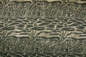 Ткань атласный шелк Италия (шелк 100%, оливковый, зебра-леопард, шир. 1,40 м)