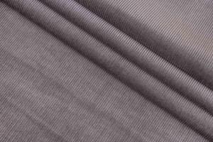 Ткань вельвет Италия (коттон 100%, пепельно-серый, шир. 1,50 м)