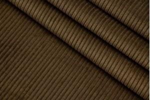 Ткань вельвет Италия (коттон 100%, оливково-коричневый, шир. 1,55 м)