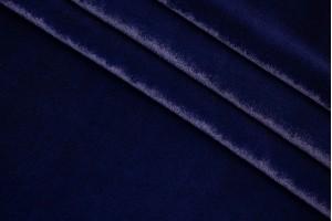 Ткань панбархат Италия (вискоза 50%, шелк 50%, темно-синий, шир. 1,40 м)