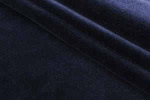 Ткань бархат Италия (коттон 98%, эластан 2%, синий, шир. 1,25 м)