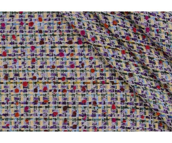 Ткань твид с буклированной поверхностью Италия (коттон 70%, политестер 30%, шир. 1,50 м)