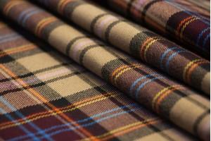 Ткань костюмно-плательная Италия (полиамид 55%, коттон 20%, акрил 17%, шерсть 5%, эластан 3%, клетка, шир. 1,50м)