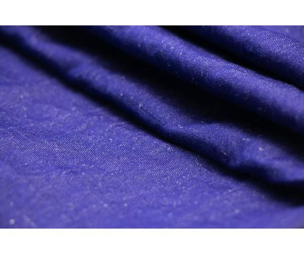 Ткань джинс-жатка Италия (тонкий, коттон 80%, вискоза 20%, синий, шир. 1,50 м)