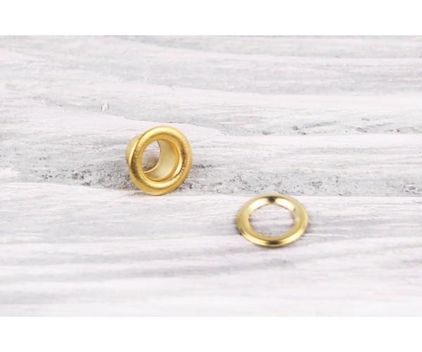 Люверс металл 7 мм (матовый, золото, цена за упаковку)