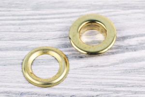 Люверс металл 22 мм (отполированный, золото)
