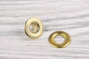 Люверс металл 12 мм (матовый, золото, цена за упаковку)