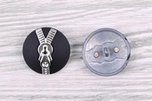 Пуговица Италия (метал, на ножке, змейка, 2,5 см)
