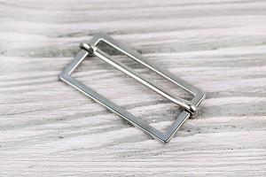 Регулятор длины металлический составной (матовый, никель)