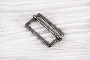 Регулятор длины металлический составной (отполированный, темный никель)