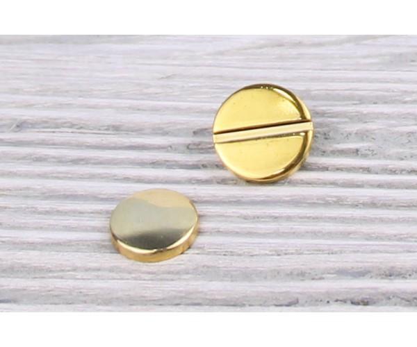 Заклепка металл 11 мм (отполированный, золото, цена за упаковку)