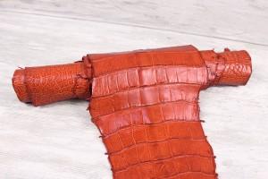 Кожа крокодила Италия (оранжевый)