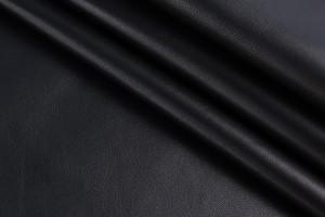 Кожа одежная овчина Италия (черный, гладкая, матовая)