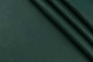 Кожа галантерейная КРС Италия (темно-зеленый, фактура, флотар)