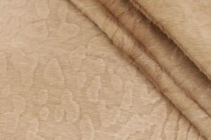 Кожа опоек Италия (пони, тиснение леопард, бежевый)